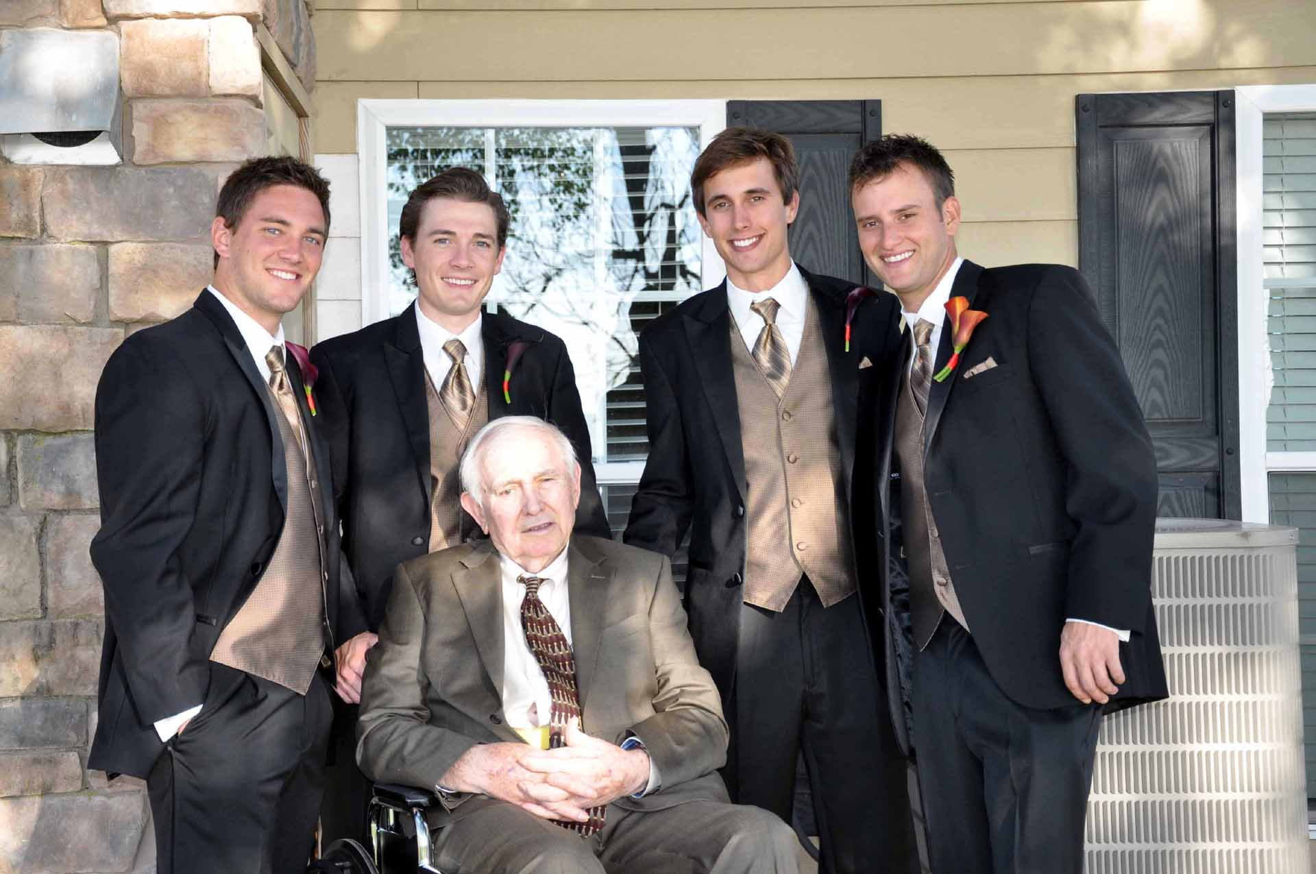 Randal and his grandsons